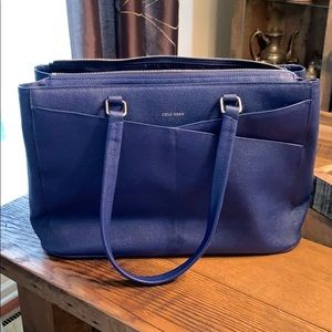NWT Cole Haan Royal Blue Tote Bag